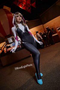 @Elena_Strikes as Spider-Gwen